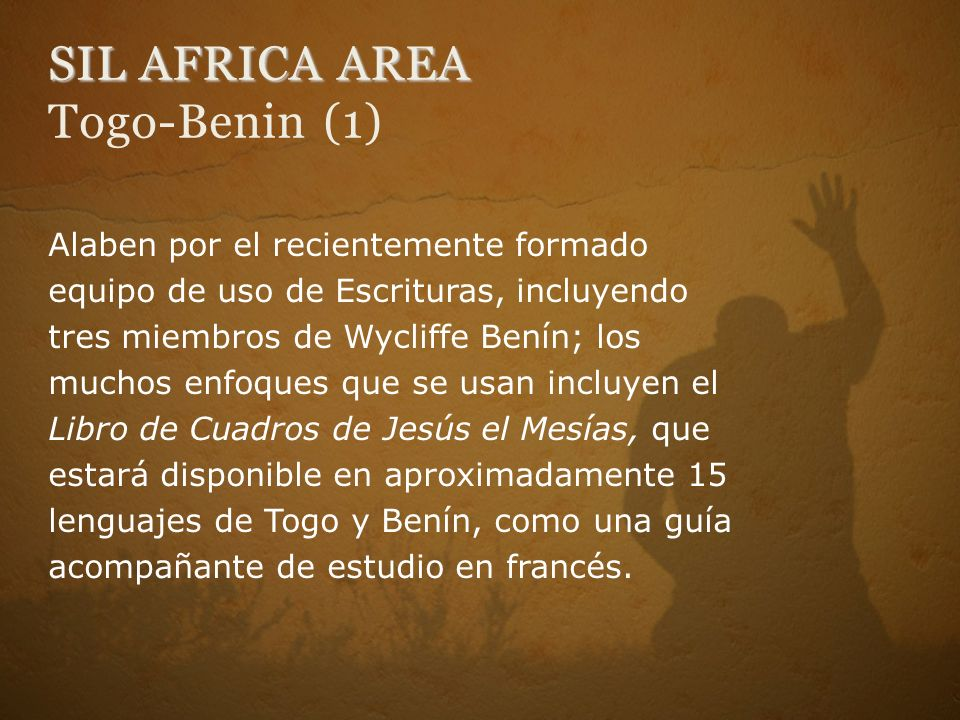 SIL AFRICA AREA Togo-Benin (1)