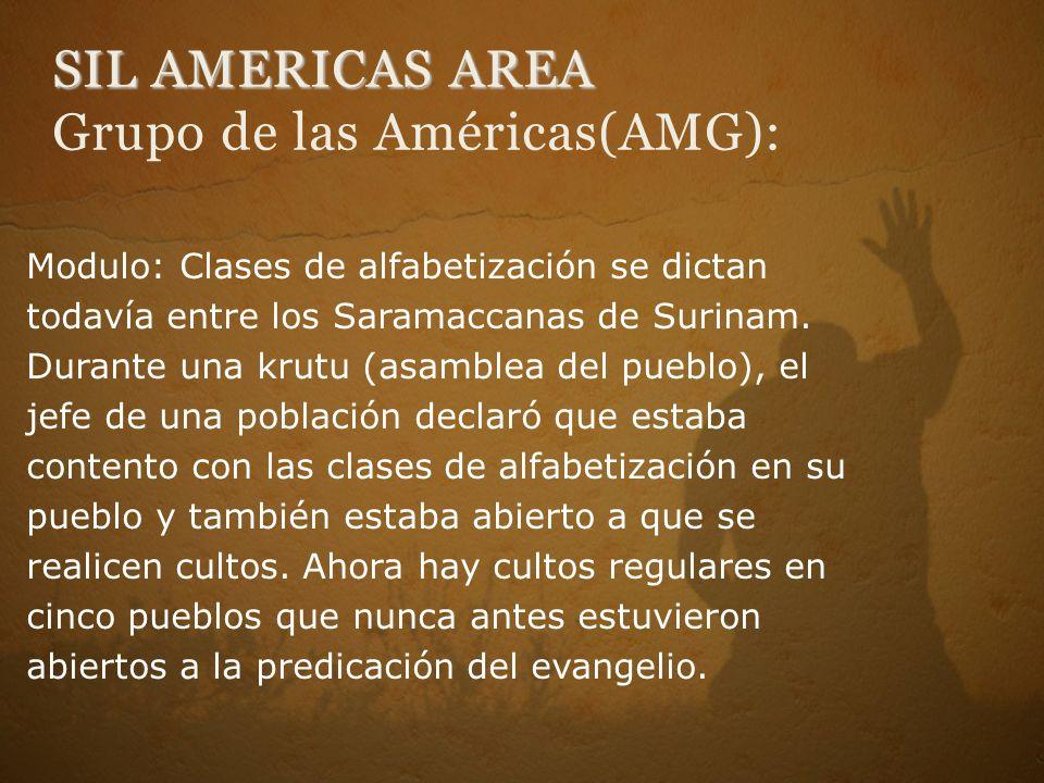 SIL AMERICAS AREA Grupo de las Américas(AMG):