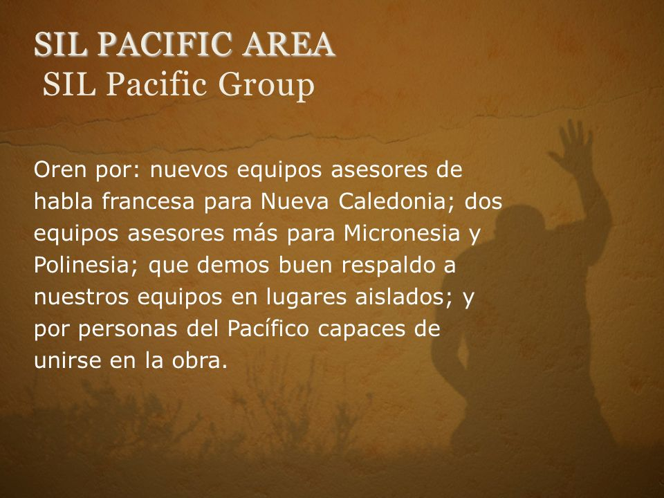 SIL PACIFIC AREA SIL Pacific Group
