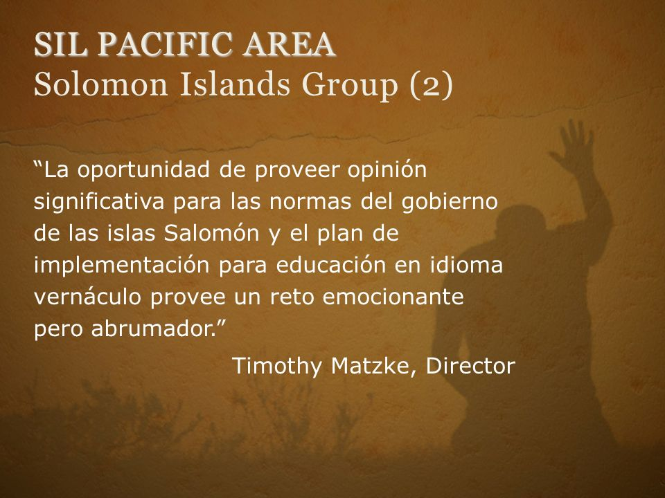 SIL PACIFIC AREA Solomon Islands Group (2)