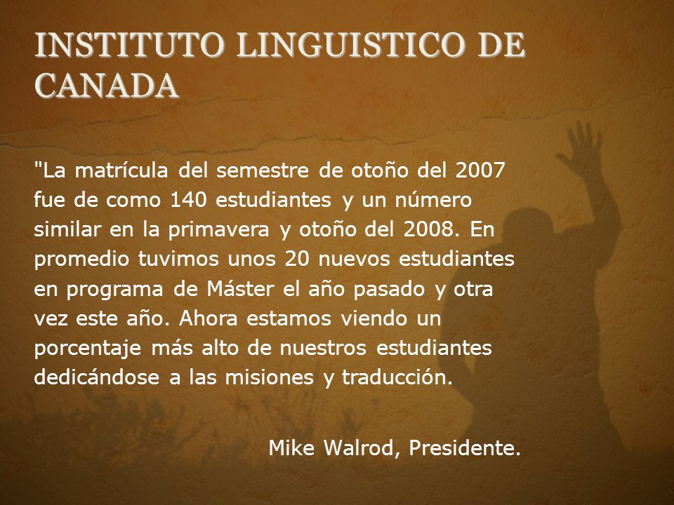 INSTITUTO LINGUISTICO DE CANADA