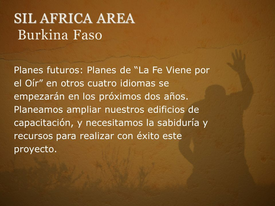 SIL AFRICA AREA Burkina Faso