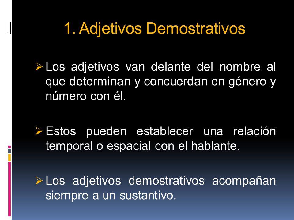 1. Adjetivos Demostrativos