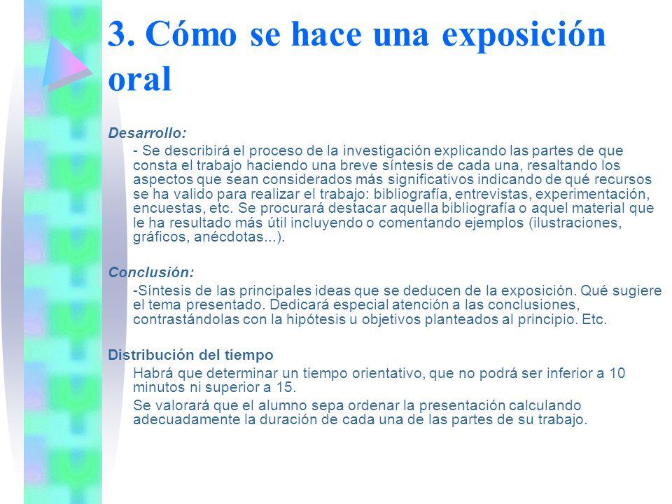 3. Cómo se hace una exposición oral