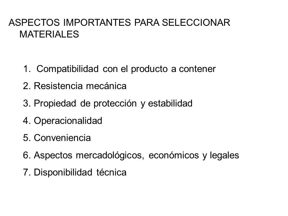ASPECTOS IMPORTANTES PARA SELECCIONAR MATERIALES
