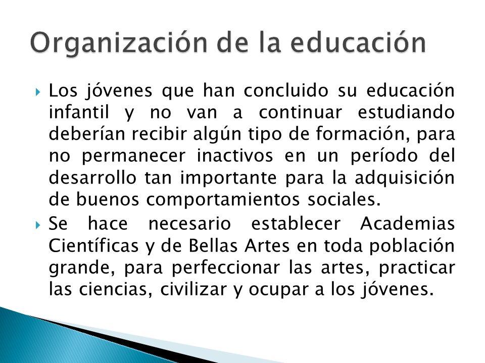 Organización de la educación