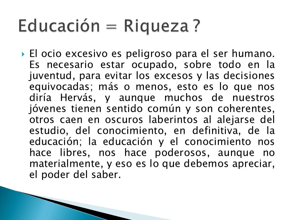 Educación = Riqueza