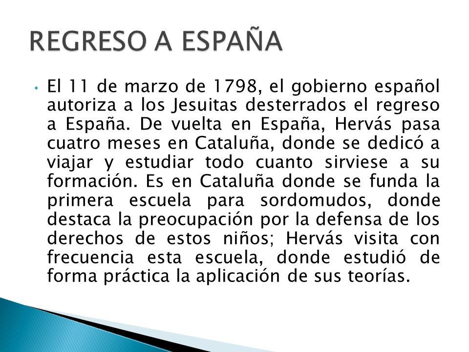 REGRESO A ESPAÑA