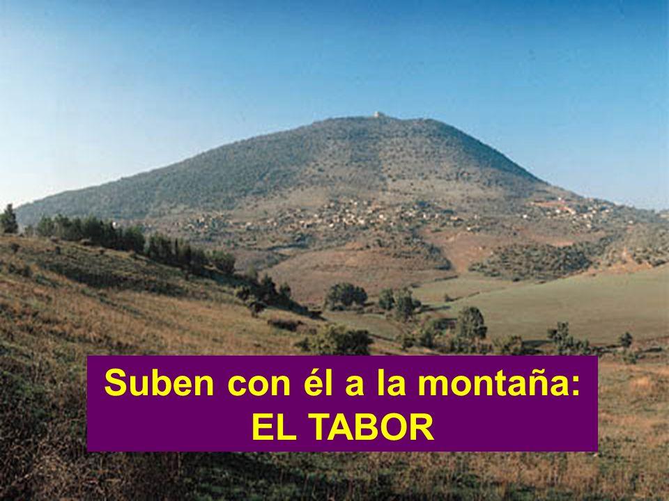 Suben con él a la montaña:
