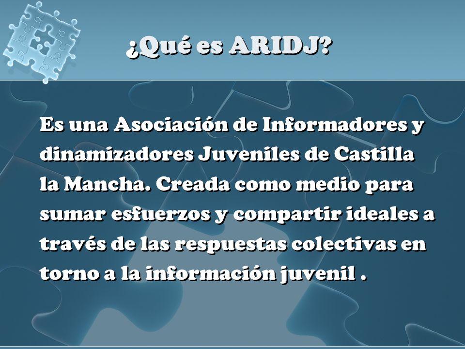 ¿Qué es ARIDJ Es una Asociación de Informadores y