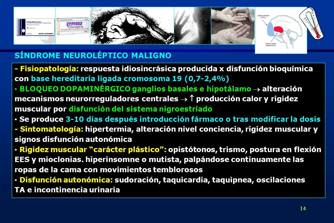 SÍNDROME NEUROLÉPTICO MALIGNO