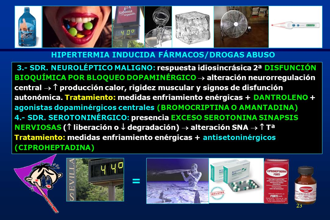 = HIPERTERMIA INDUCIDA FÁRMACOS/DROGAS ABUSO