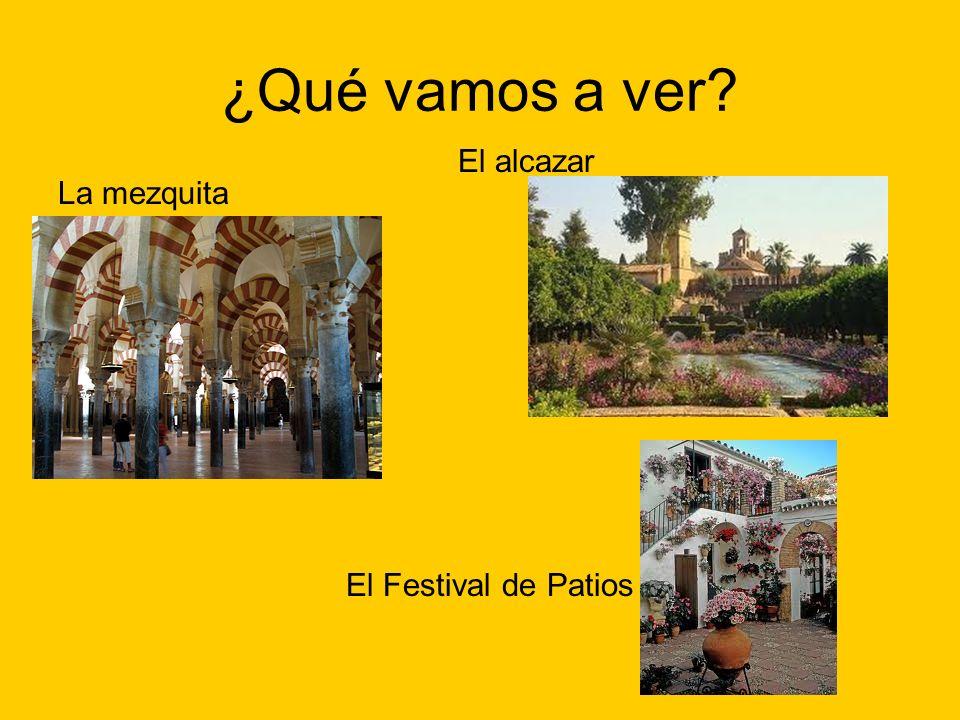 ¿Qué vamos a ver El alcazar La mezquita El Festival de Patios