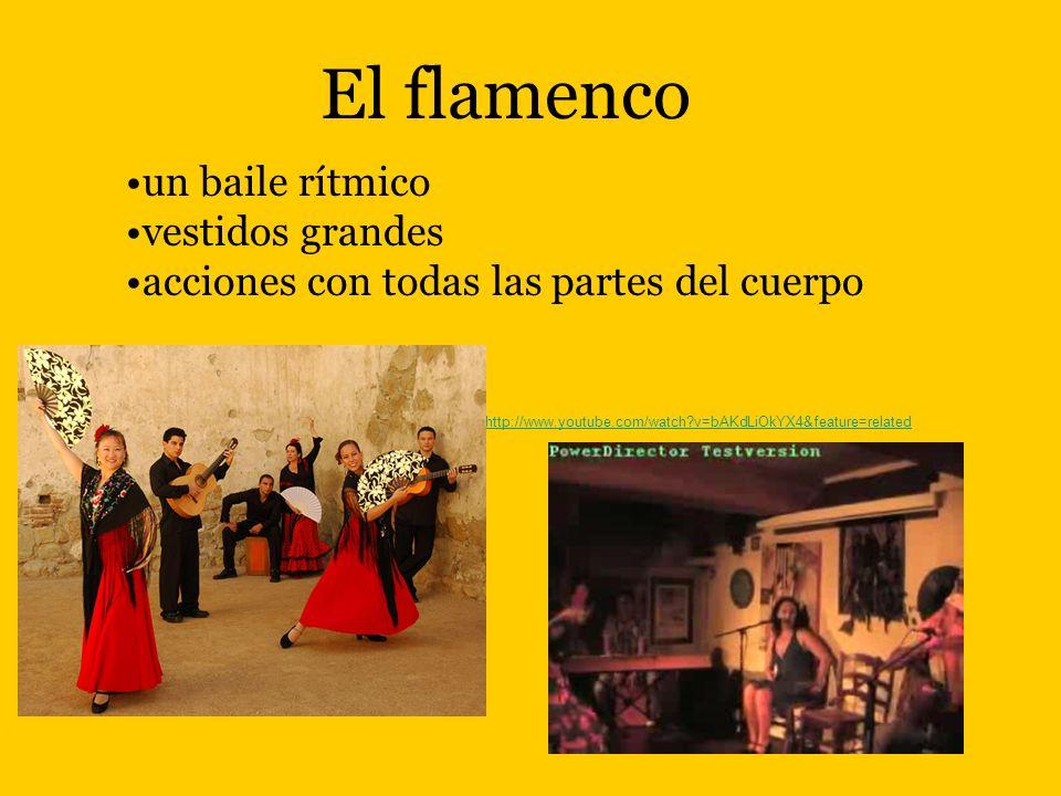El flamenco un baile rítmico vestidos grandes