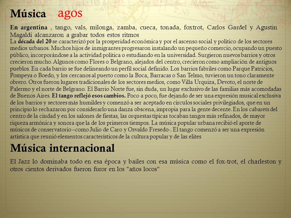 agos Música Música internacional