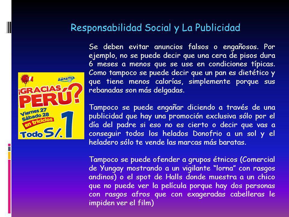 Responsabilidad Social y La Publicidad