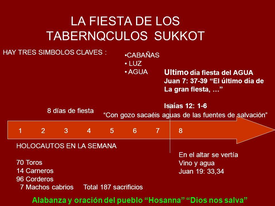 LA FIESTA DE LOS TABERNQCULOS SUKKOT