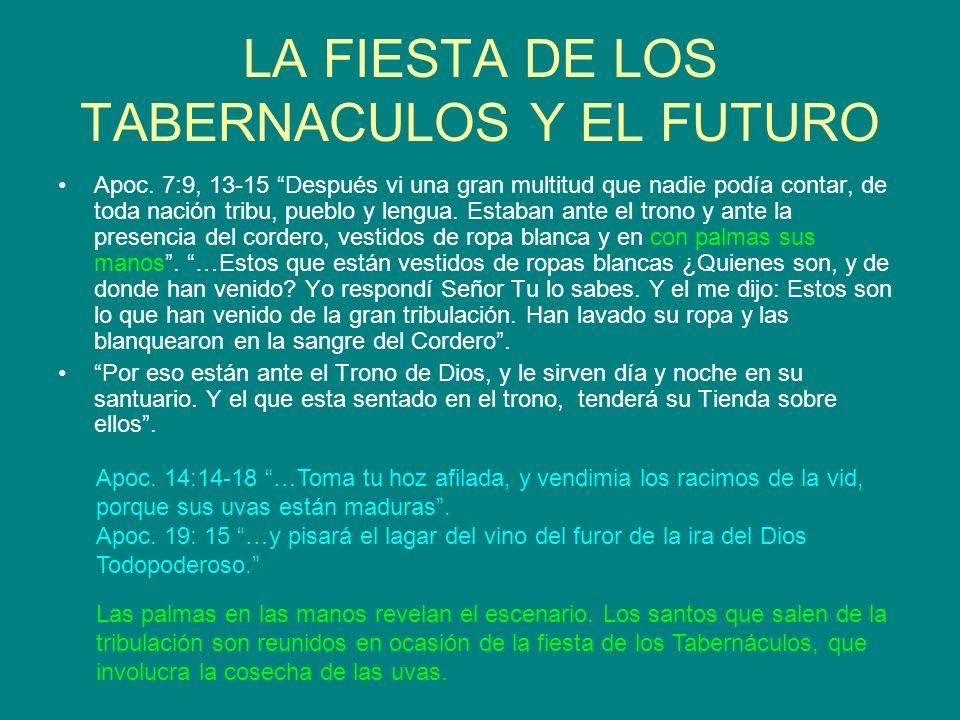 LA FIESTA DE LOS TABERNACULOS Y EL FUTURO