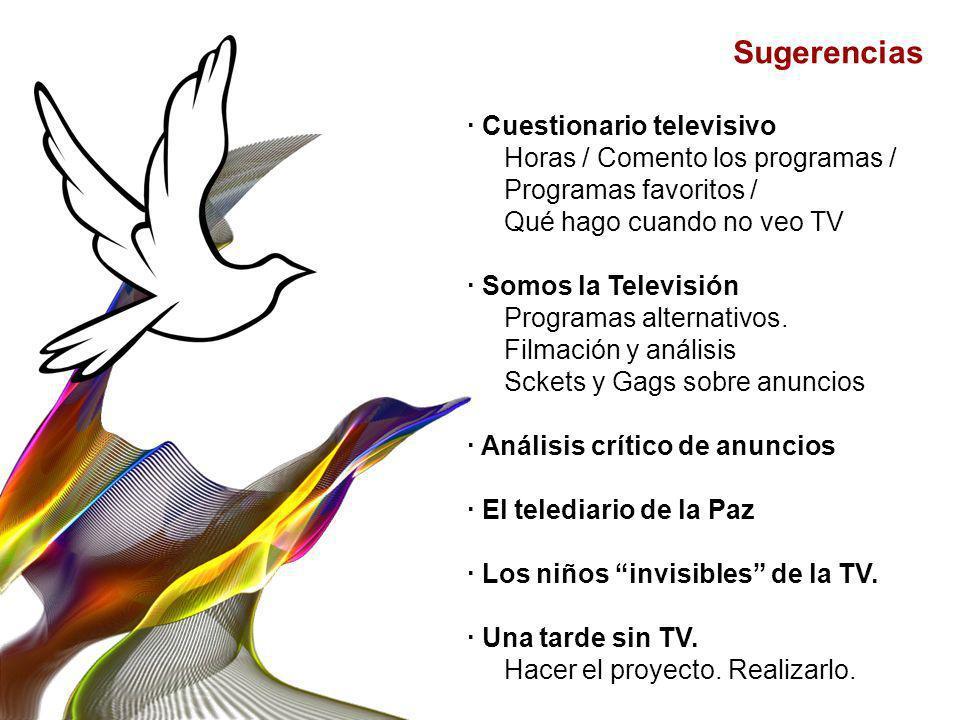 Sugerencias · Cuestionario televisivo Horas / Comento los programas /