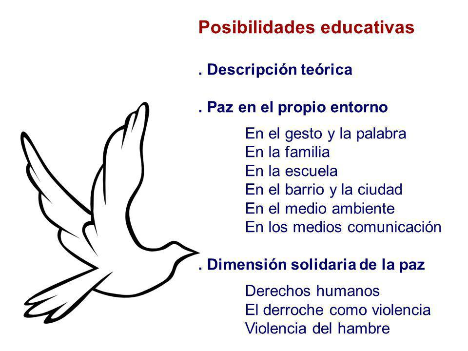 Posibilidades educativas
