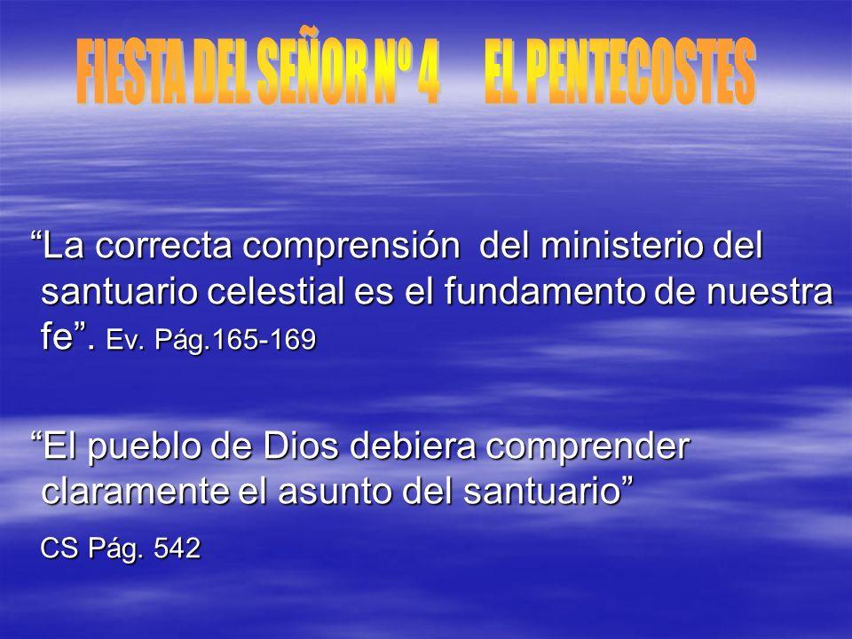 FIESTA DEL SEÑOR Nº 4 EL PENTECOSTES