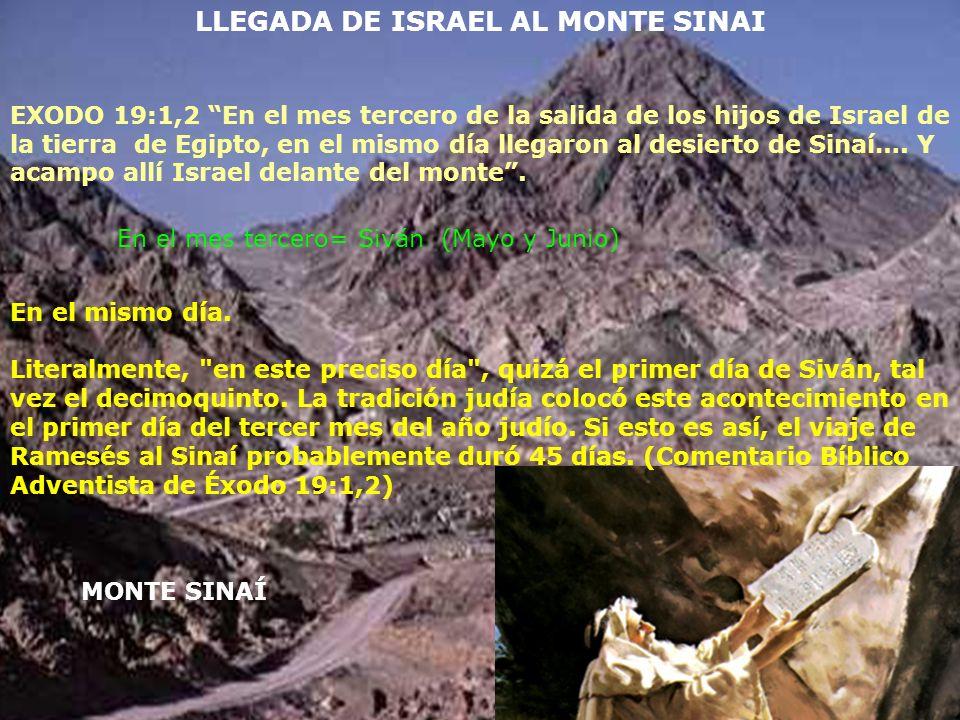 LLEGADA DE ISRAEL AL MONTE SINAI