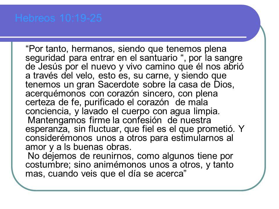 Hebreos 10:19-25