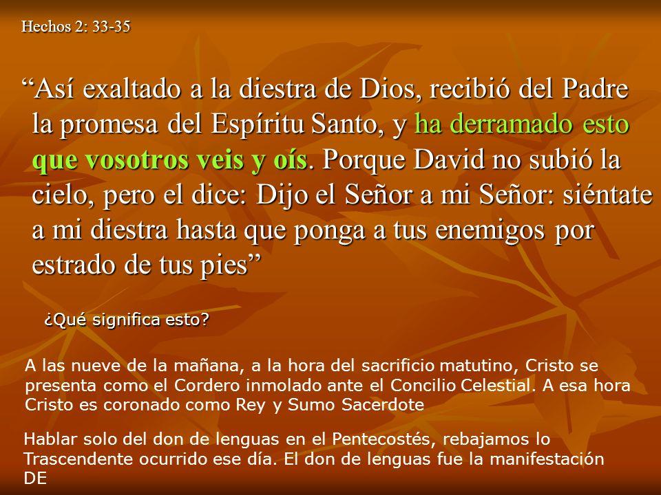 Hechos 2: 33-35