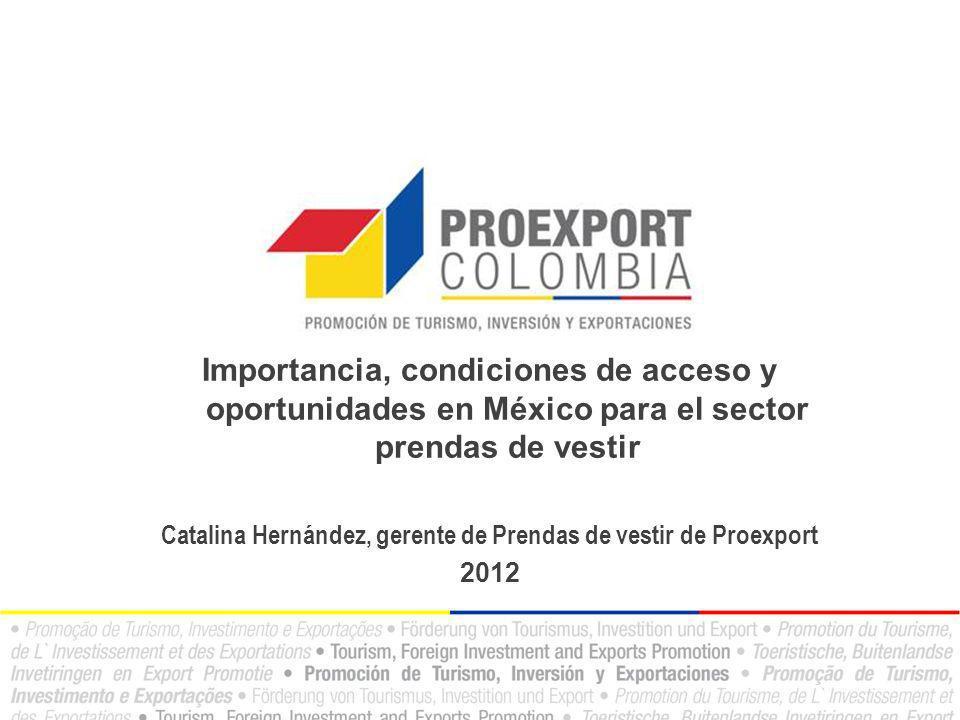 Catalina Hernández, gerente de Prendas de vestir de Proexport