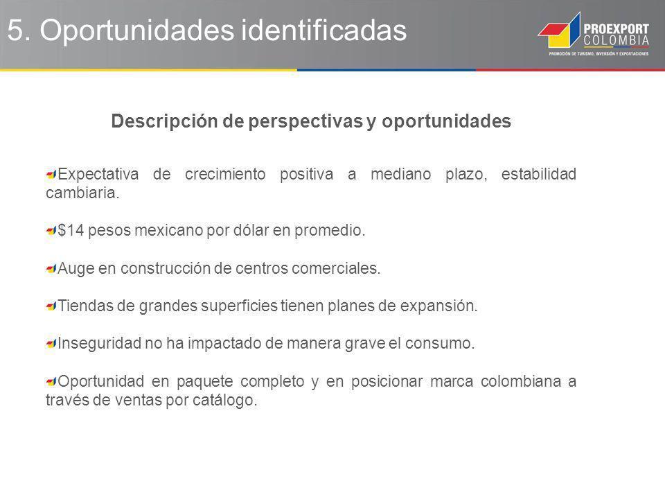 5. Oportunidades identificadas