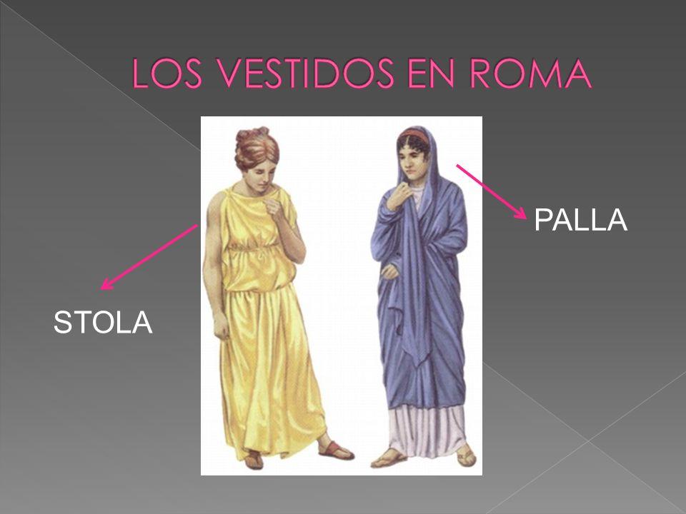 LOS VESTIDOS EN ROMA PALLA STOLA