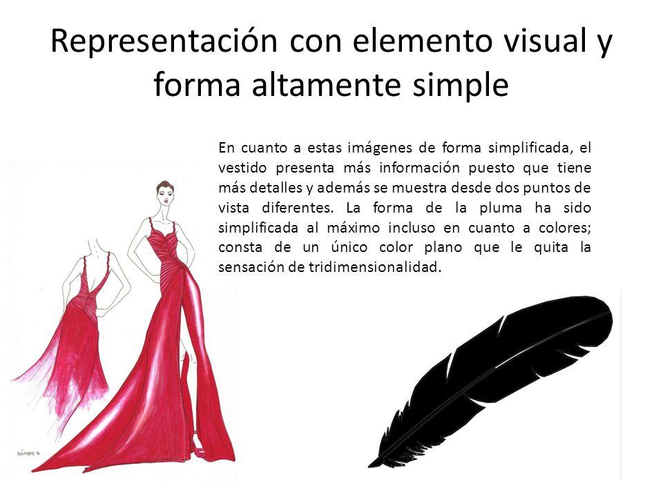 Representación con elemento visual y forma altamente simple