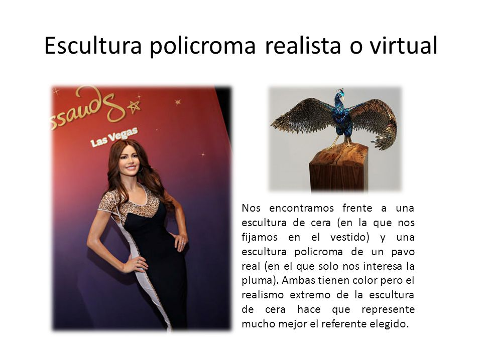 Escultura policroma realista o virtual