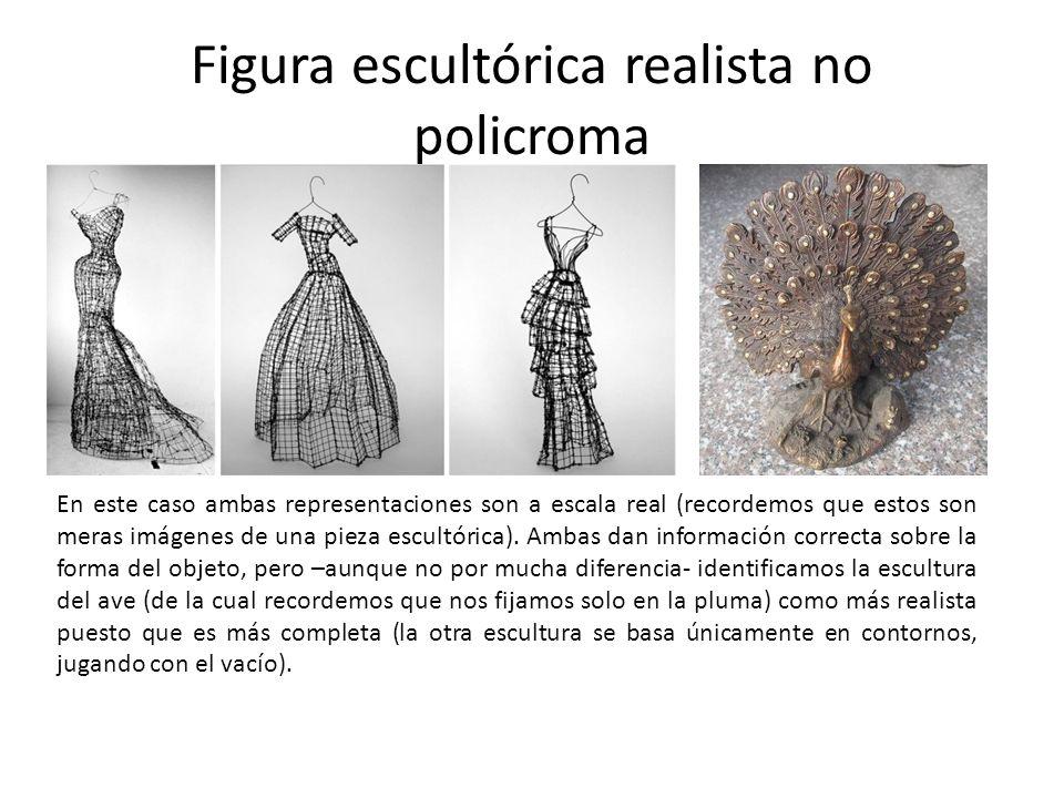 Figura escultórica realista no policroma