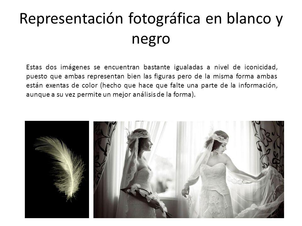Representación fotográfica en blanco y negro