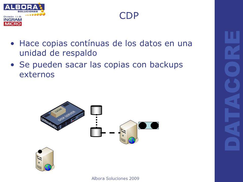 CDP Hace copias contínuas de los datos en una unidad de respaldo