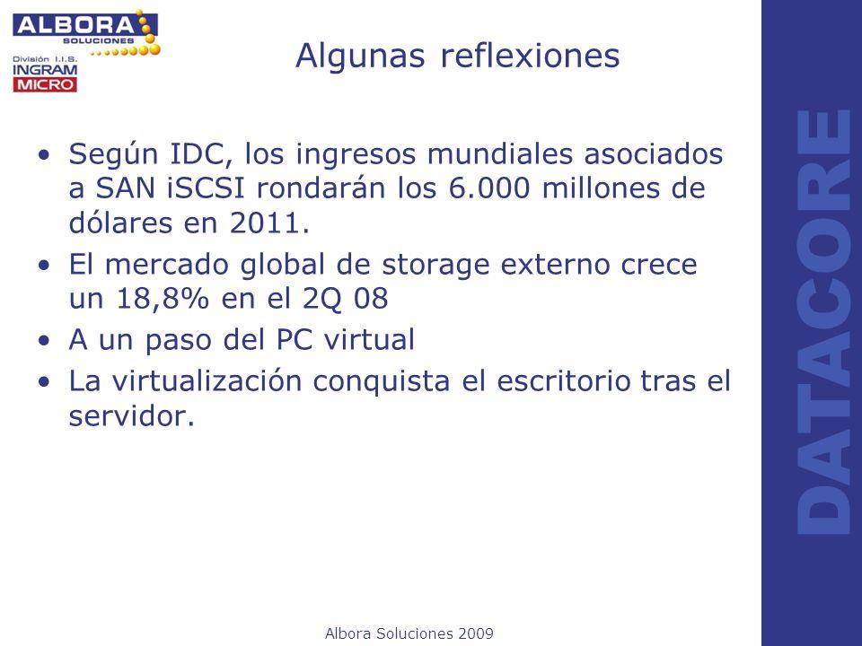 Algunas reflexiones Según IDC, los ingresos mundiales asociados a SAN iSCSI rondarán los 6.000 millones de dólares en 2011.