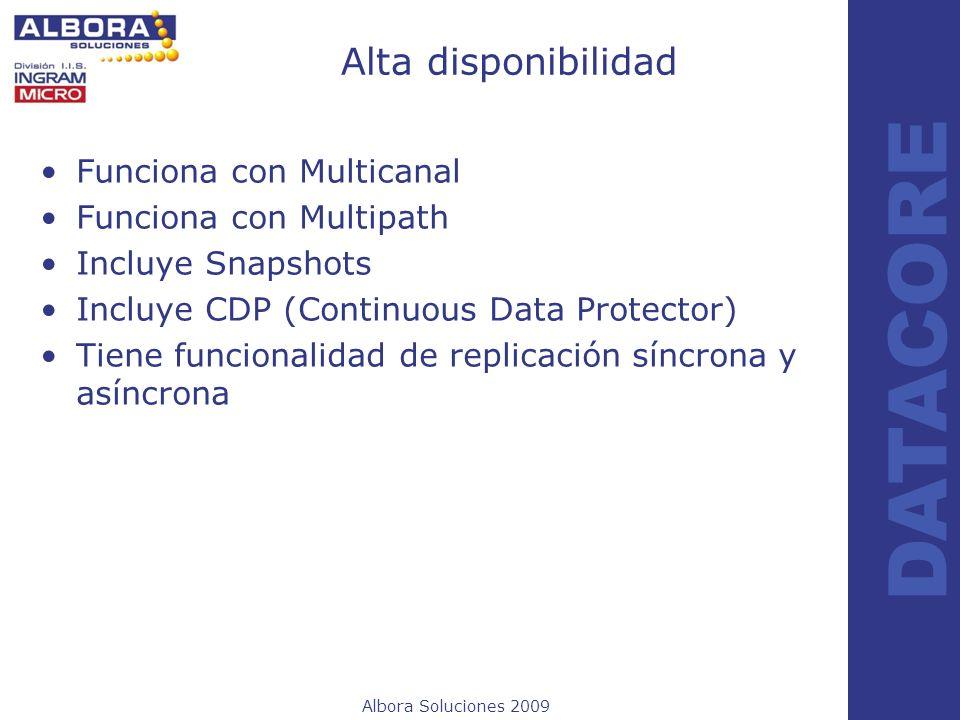 Alta disponibilidad Funciona con Multicanal Funciona con Multipath