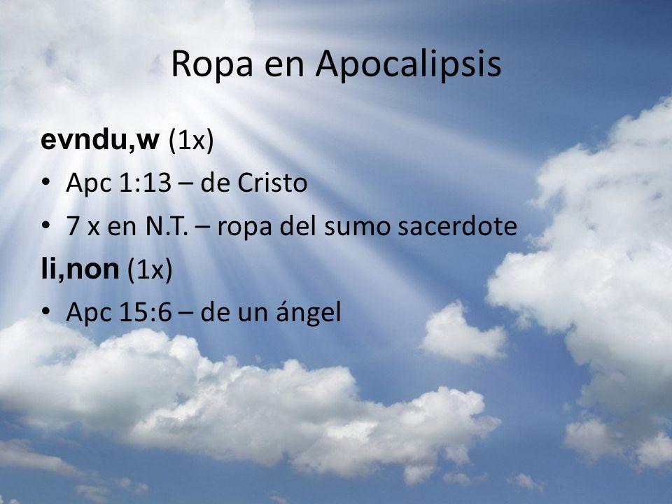 Ropa en Apocalipsis evndu,w (1x) Apc 1:13 – de Cristo