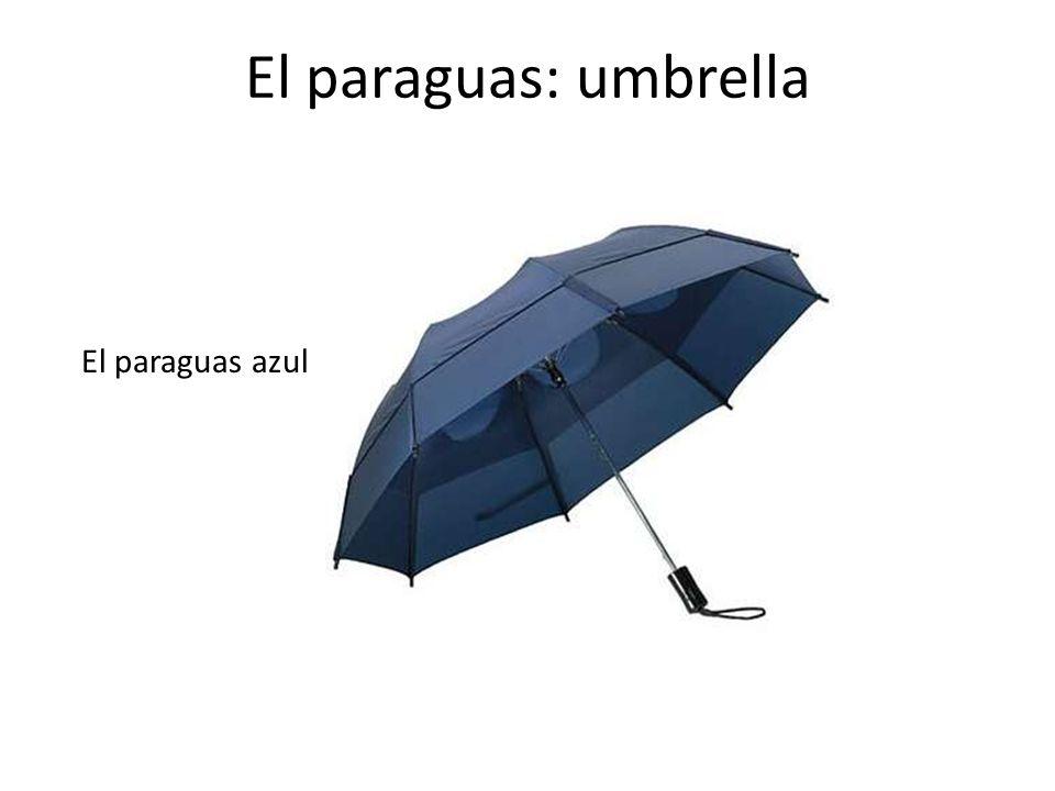 El paraguas: umbrella El paraguas azul