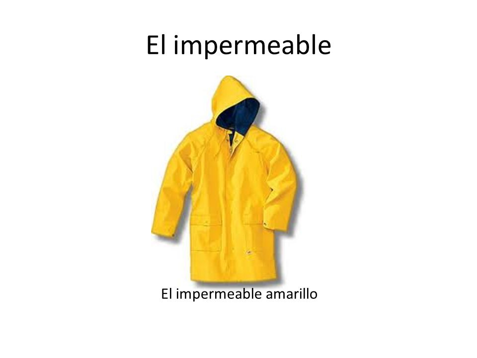 El impermeable El impermeable amarillo