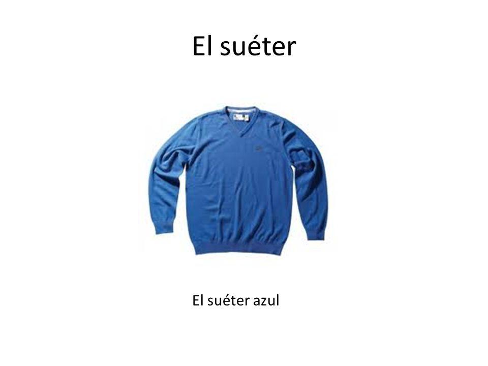 El suéter El suéter azul