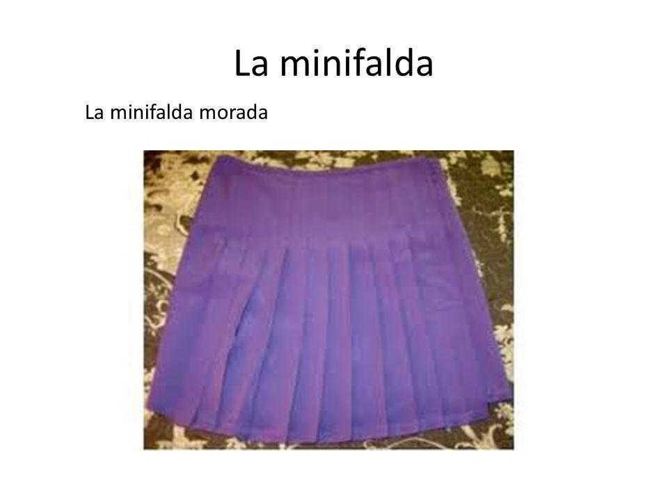 La minifalda La minifalda morada