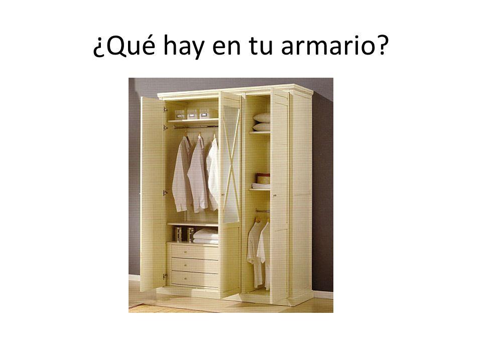 ¿Qué hay en tu armario