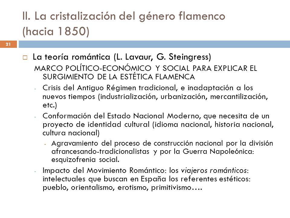 II. La cristalización del género flamenco (hacia 1850)