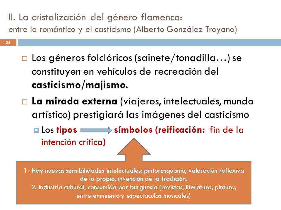 II. La cristalización del género flamenco: entre lo romántico y el casticismo (Alberto González Troyano)