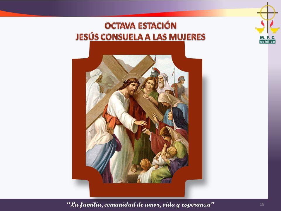 OCTAVA ESTACIÓN JESÚS CONSUELA A LAS MUJERES
