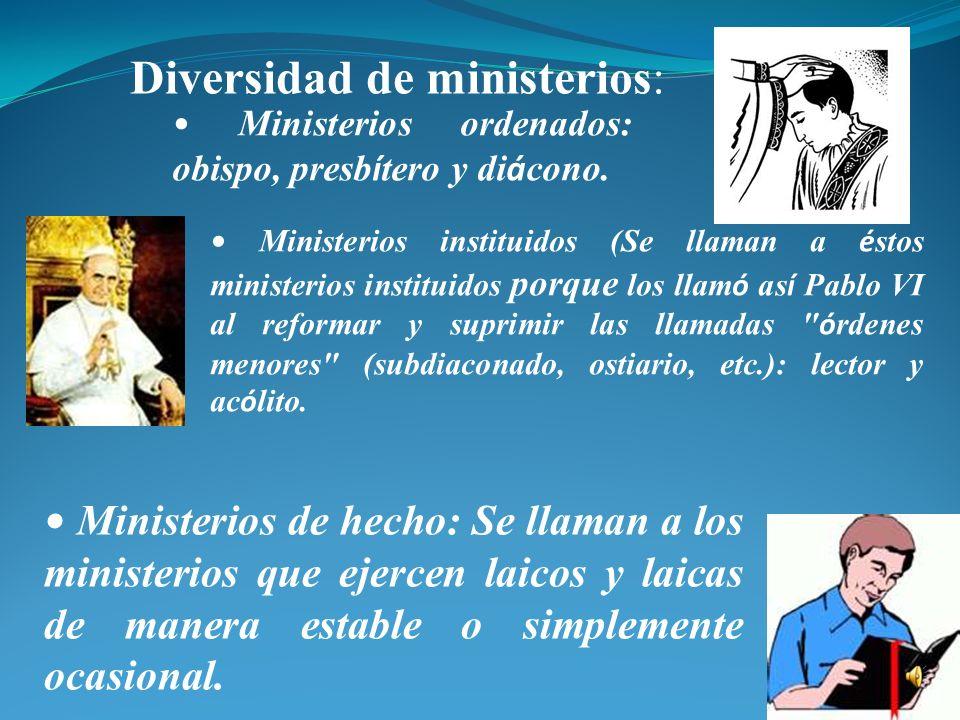 Diversidad de ministerios: