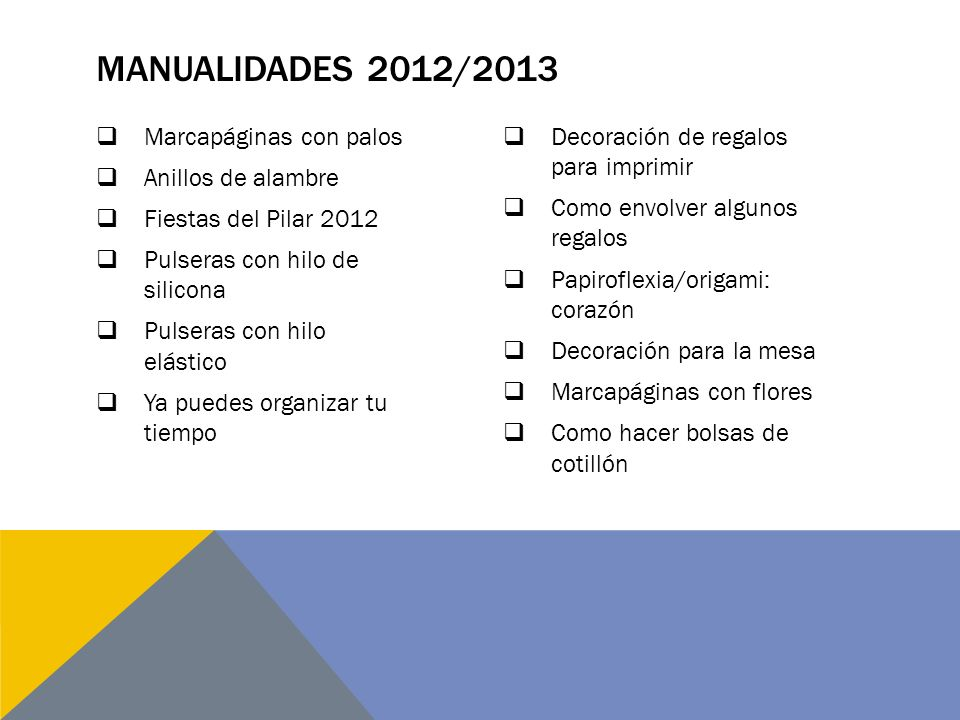 Manualidades 2012/2013 Marcapáginas con palos Anillos de alambre
