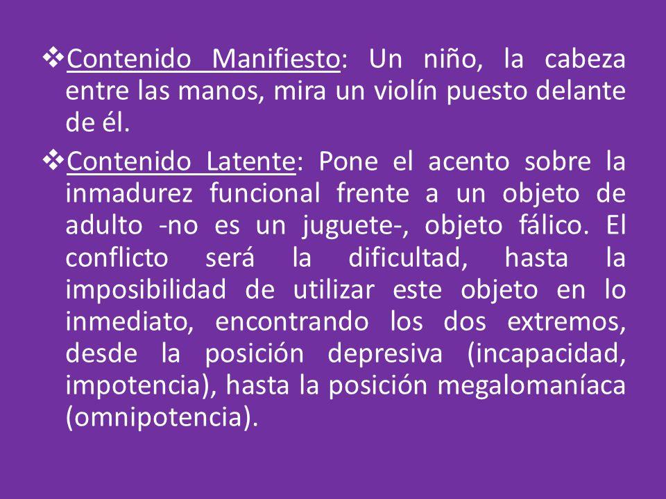 Contenido Manifiesto: Un niño, la cabeza entre las manos, mira un violín puesto delante de él.